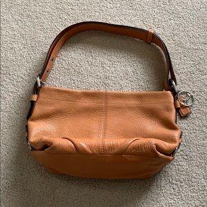 Coach // Orange Leather Shoulder Purse